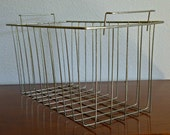 Vintage Industrial Metal Wire Basket