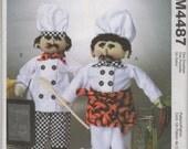 McCalls 4487 Standing Chefs Soft Sculpture