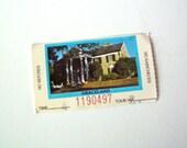 Vintage Elvis Graceland Tour Ticket