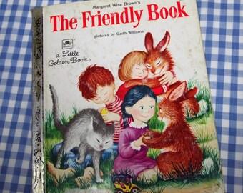 the friendly book, vintage 1982 children's little golden book
