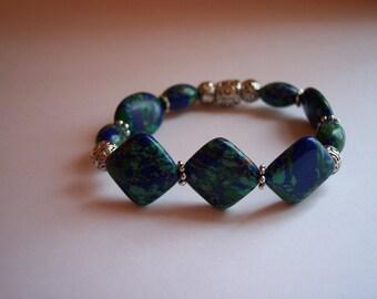 Egyptian Lapis Stretch Bracelet