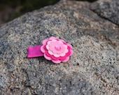Pink flower snap clip 50mm