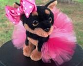 Medium Dog Tutu:  Mix of Pinks (Fuscia Pink, Bubblegum Pink, Baby Pink)  - Ready To Ship