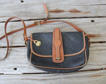 The Perfect Bag.  Leather Dooney & Bourke Navy Shoulder Bag