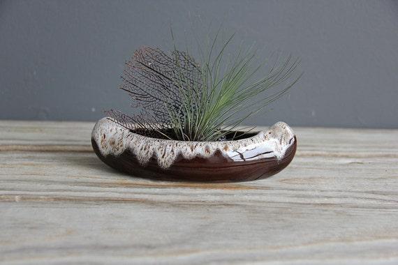 Ceramic Canoe Planter Dish