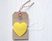 Sunshine Yellow Heart Garland Paper Bunting - 4.5ft