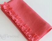 "Ruffled Linen Napkin - Set of 2 - 19"" Square"