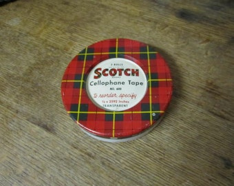 Vintage Scotch Tape Tin.... great display.