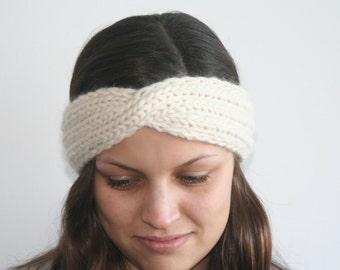Twisted Turban Headband Knitting Pattern (PDF)