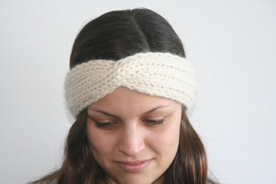 Turban Headband Knitting Pattern : Twisted Turban Headband Knitting Pattern PDF