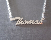 Personalized Mini White Gold Name Necklace