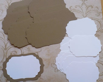 2 size Die cut Shapes 4 Layering Kraft and White colors Cardstock made from Spellbinder Dies Wedding