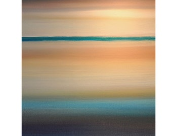 ORIGINAL PAINTING Abstract Large Verticle 30x40 Seascape Fine Art  By Thomas John