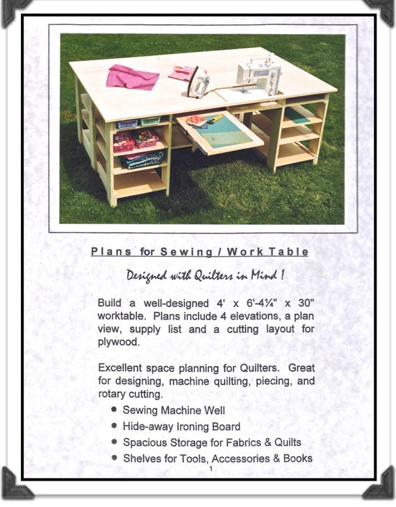 Sewing Table Plans Terry Hire