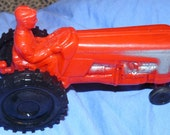 Vintage TOY TRACTOR Soft Plastic 1960's International Clone