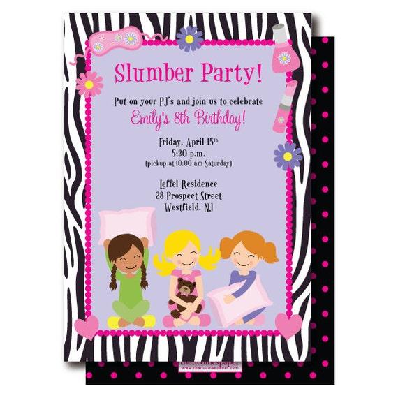 Slumber Party Invitati...