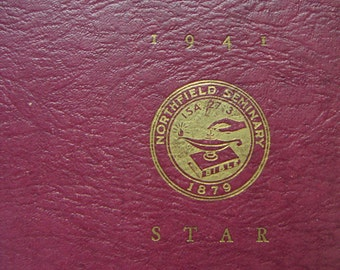 Vintage Yearbook - The Northfield Star, Commencement Number 1942. Northfield Seminary East Northfield, Massachusetts. Volume 26