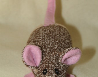 Handcrafted Mini Sock Monkey Mouse