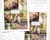 16x20 Vintage Damask Storyboard and Blog Board Template Photography Design- Classic Three