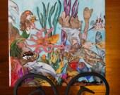 "Ceramic Tile 6"" x6""  Kyla Rose -Mermaid and Ocean Life made in Hawaii with Aloha"