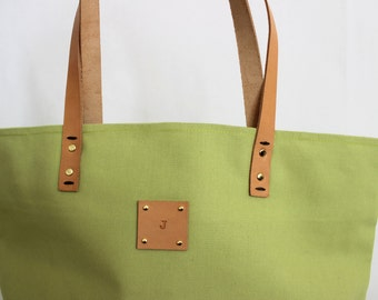 Canvas Tote... SPECIALIZED LABEL... Beach bag sized AVOCADO tote bag