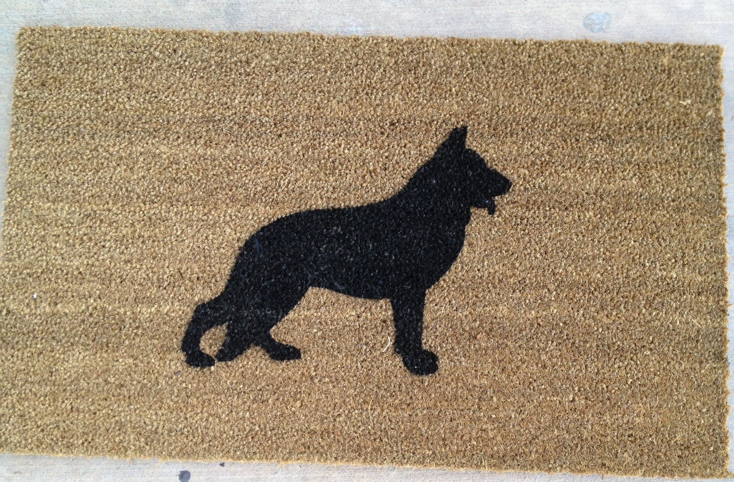 German Shepherd Silhouette Doormat