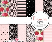 Frenchie digital paper pack