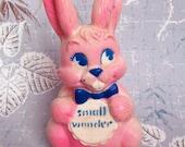 Vintage Kitsch Small Wonder Pink Squeaky Bunny Rabbit