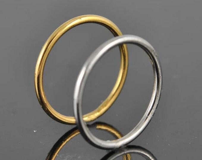 white gold ring, stacking ring, wedding band, wedding ring, engagement ring, mens ring, mens wedding band, man wedding ring,  Size up to 9