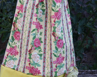 Shabby chic summer dress with flowers,for birthdays,vacation,flower girl dress,photoprop,garden weddings,cottage weddings