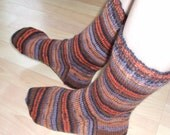 Hand knit womens wool socks, US 9-11