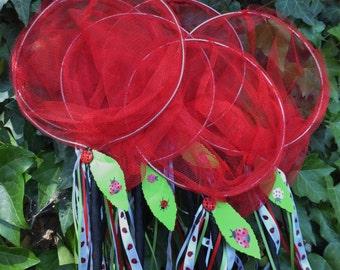 Ladybug Party Critter Catcher Nets - Butterfly Nets, Children's Toys