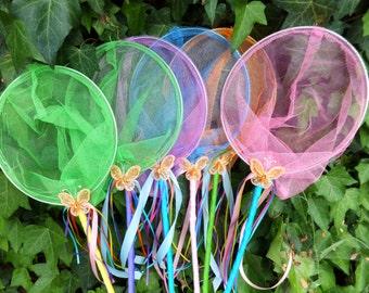 Butterfly Nets -Critter Catcher Nets, Birthday Favors, Fairy Catchers, Bug Catchers, Fish Nets