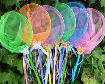 Butterfly Nets - SPECIAL EDITION Critter Catcher Nets, Birthday Favors, Fairy Catchers, Bug Catchers, Fish Nets
