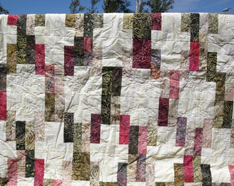 Twin Bed Quilt - Pomegranate Batik