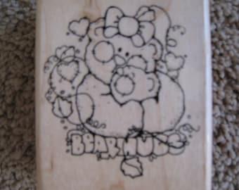 Bear Hugs - New Bear Wood Stamp
