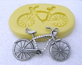 BICYCLE Flexible silicone mold -  flexible silicone mold Push mould for resin, wax, soap making