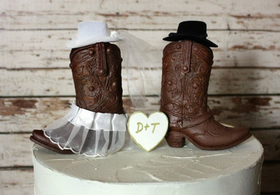 boot wedding cake topper western cowboy boots wedding cake by morganthecreator on etsy 12096