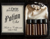 Perfume Gift Set - 4 Victorian Potions - Vial Samples - 2 ml - TheParlorApothecary