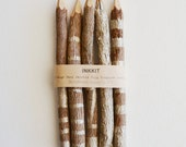 "7"" one of a kind champagne hand painted graphite twig pencils (5 pencils)"