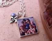 Photo Necklace, HIgh Quality Silver-Plated Photo Jewelry, Choose a charm