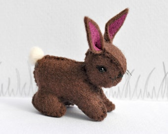 Easter Chocolate Woolfelt  Bunny