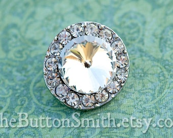 "Rhinestone Buttons ""Gabrielle"" (25mm) RS-022 - 20 piece set"