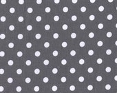 Fat Quarter fabric for quilt or craft Michael Miller Dumb Dot in Charcoal