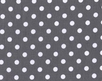 Michael Miller fabric by the yard Dumb Dot in Charcoal 1 Yard