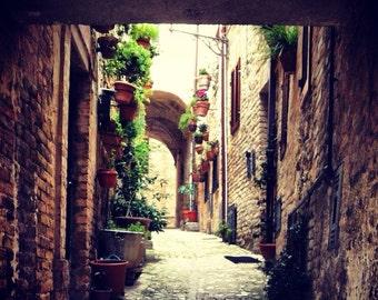Italy medieval street photo