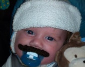 Crocheted mustache pacifier The Classic