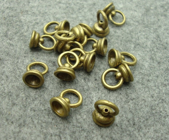 30Pcs Antique Bronze Tone Base Metal Handmade Findings-Beads Cap Accessories Handmade Findings(1920)