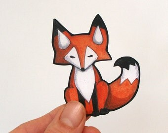 Red Fox Vinyl Sticker Decal for Car or iPhone Waterproof
