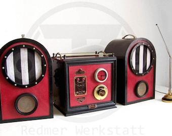 Victorian / steampunk hi-fi system ,  iPhone, iPod, Mp3 Amp